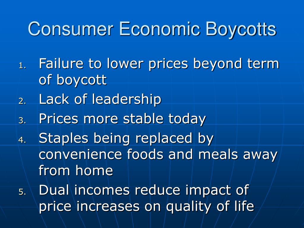 Consumer Economic Boycotts