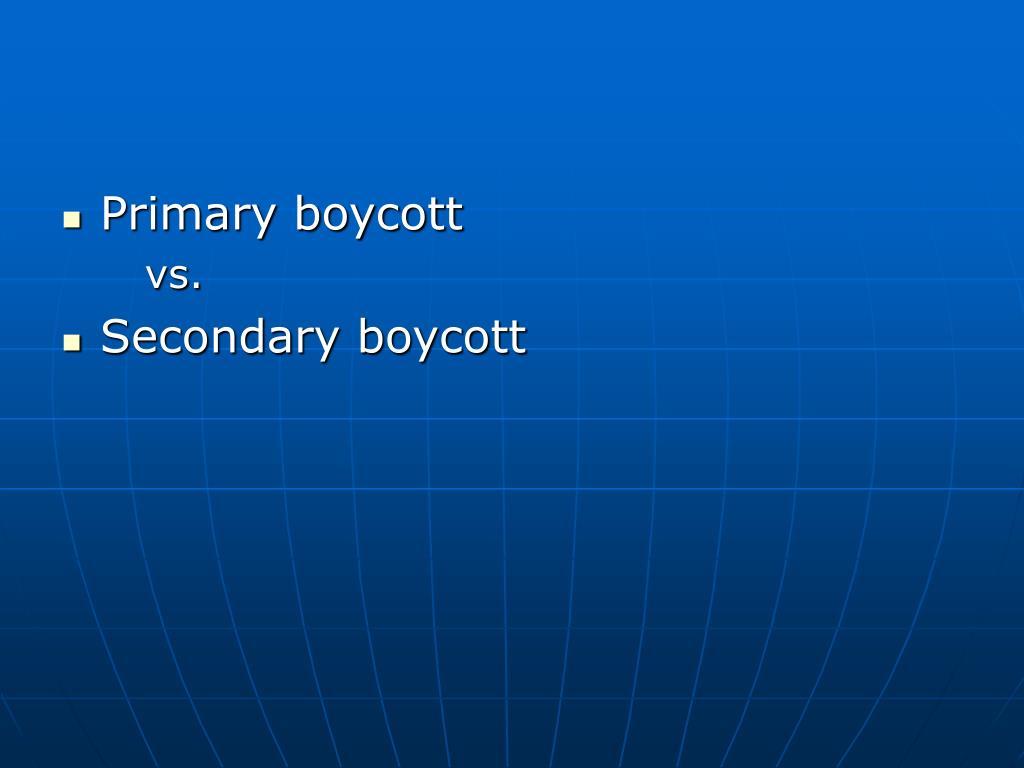 Primary boycott