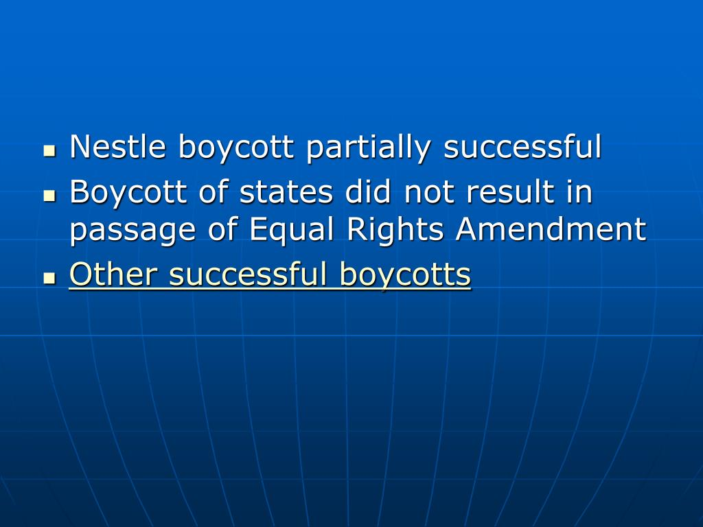 Nestle boycott partially successful