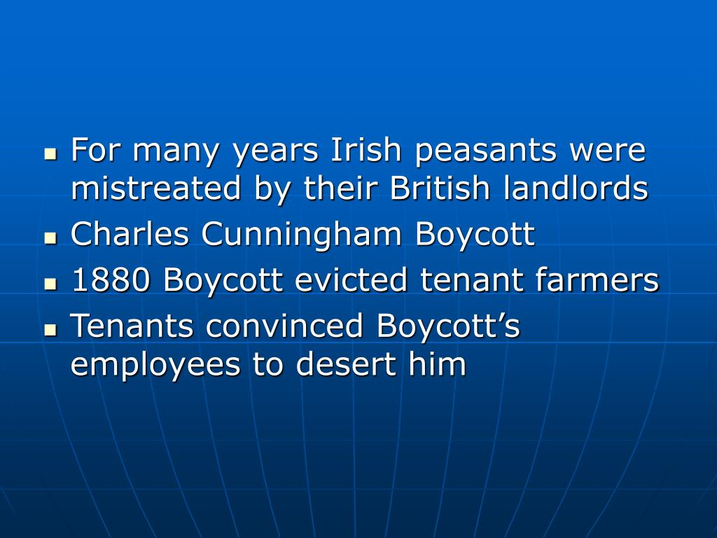 For many years Irish peasants were mistreated by their British landlords