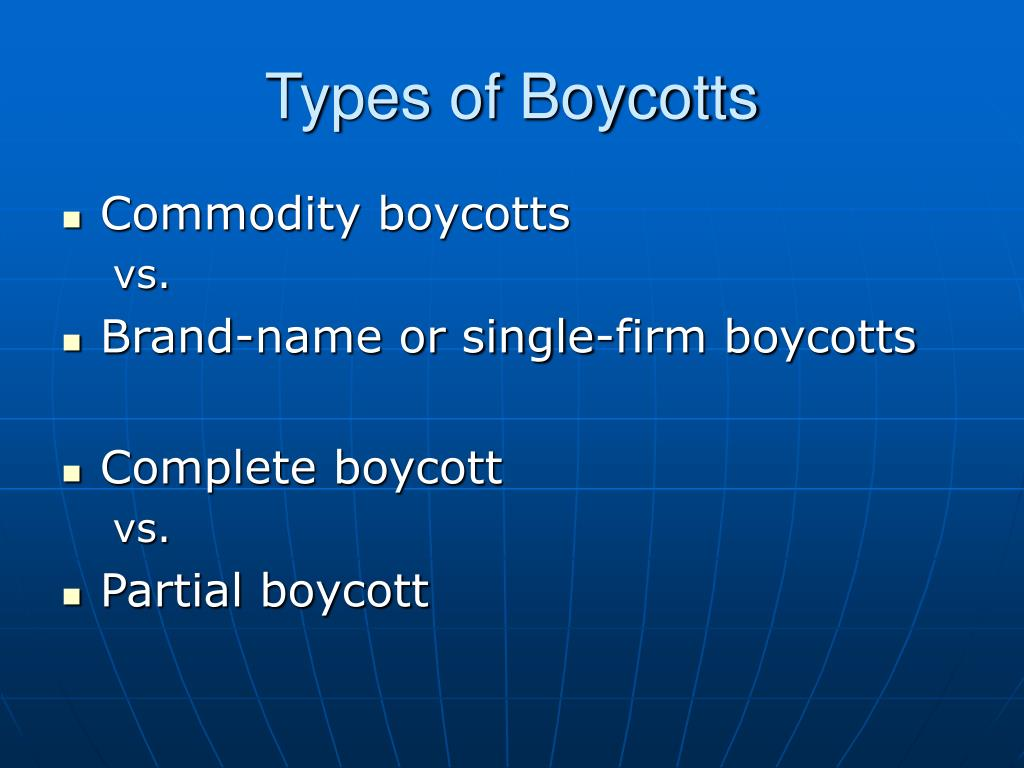Types of Boycotts