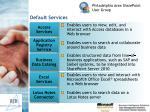 default services