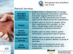 default services16