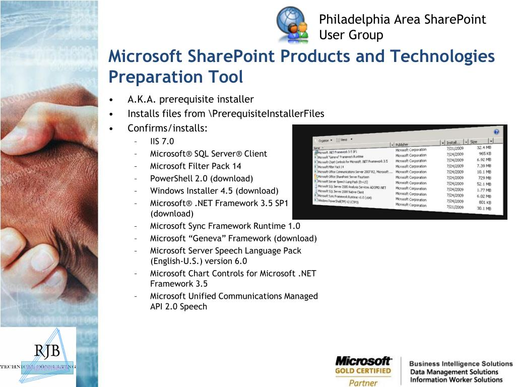 Microsoft SharePoint Products and Technologies Preparation Tool