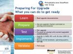 preparing for upgrade what you can do to get ready