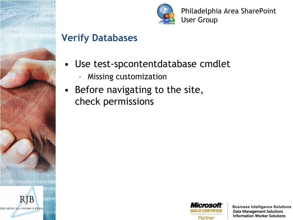 Verify Databases