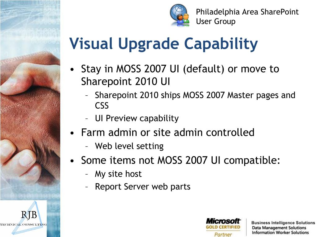 Visual Upgrade Capability