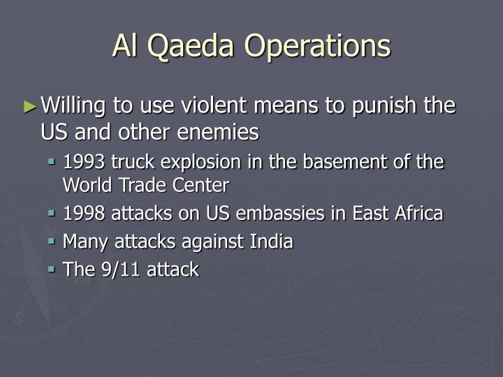 Al Qaeda Operations