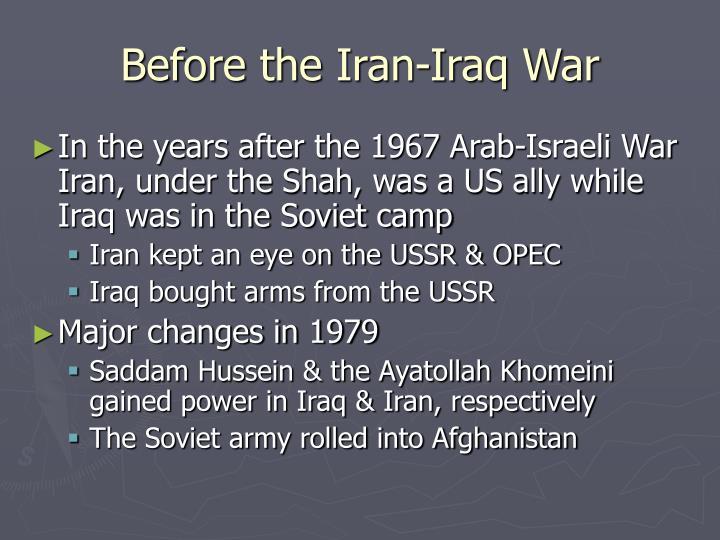 Before the Iran-Iraq War