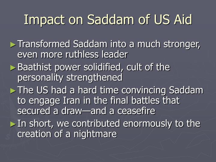 Impact on Saddam of US Aid