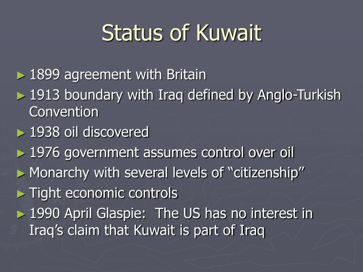 Status of Kuwait