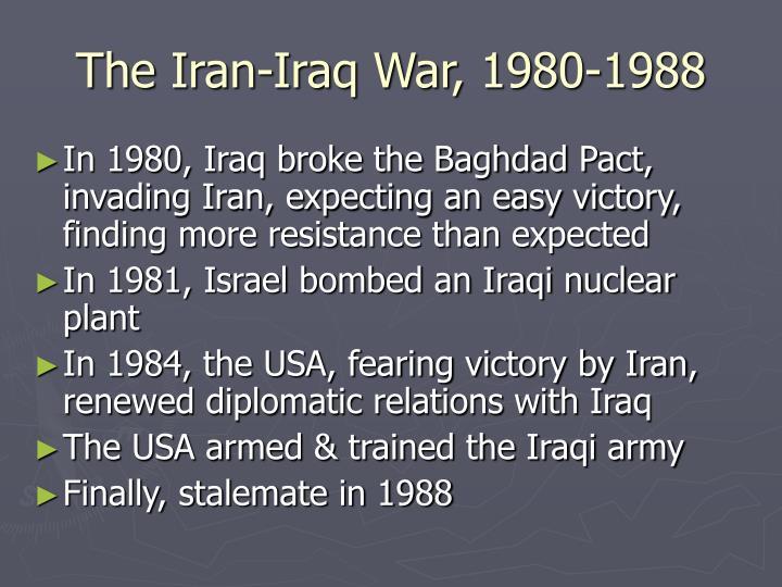 The Iran-Iraq War, 1980-1988