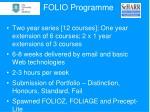 folio programme