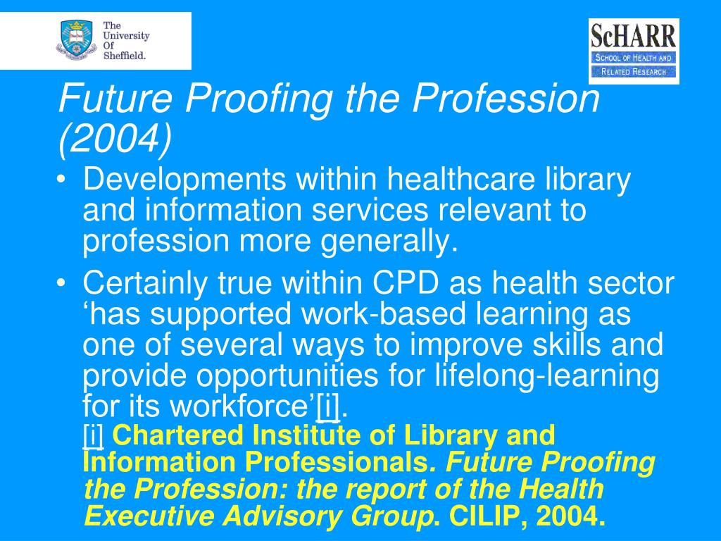 Future Proofing the Profession (2004)