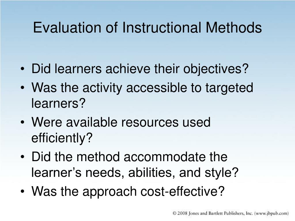 different methods of instruction in the classroom Each student learns in a different way, and each teacher teaches in a different way learn what those different teaching styles are and discover yours.