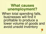 what causes unemployment