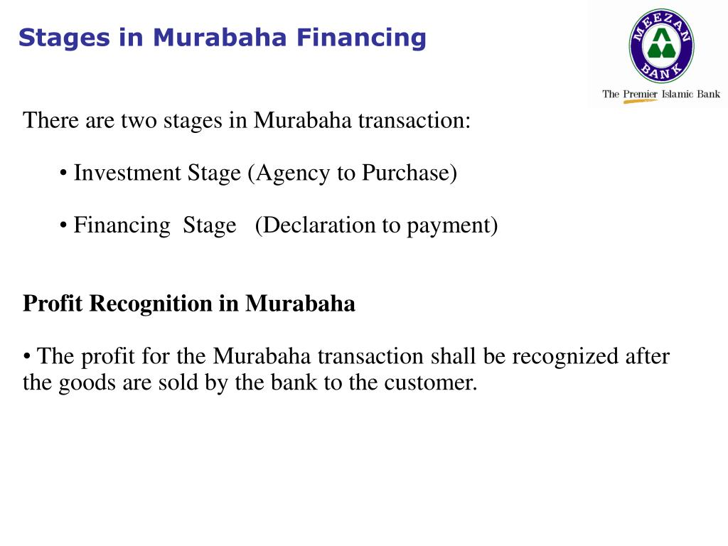 Stages in Murabaha Financing