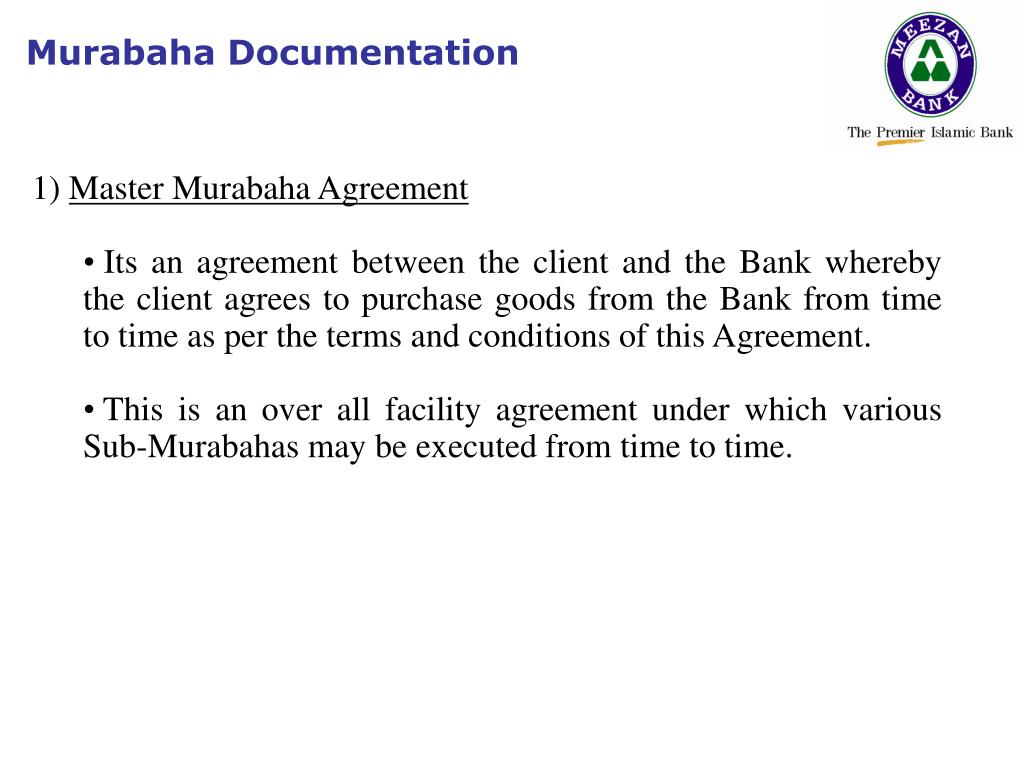 Murabaha Documentation