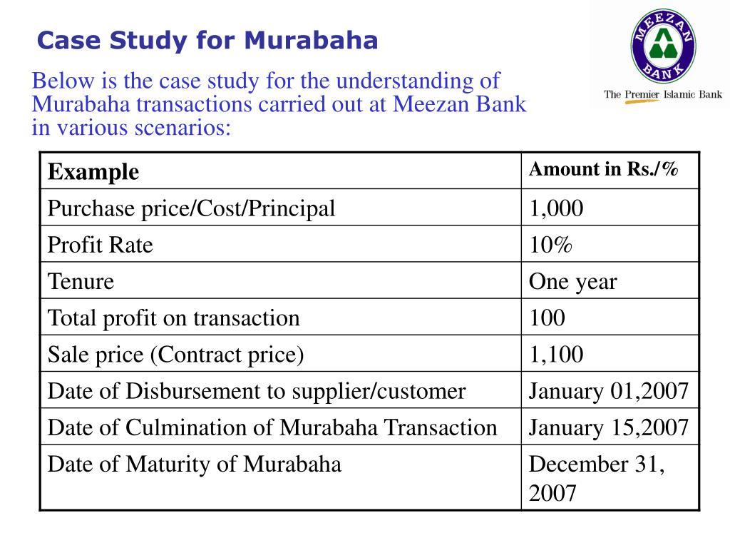 Case Study for Murabaha