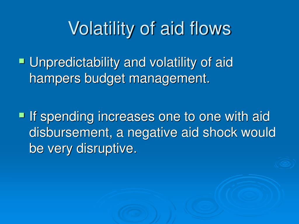 Volatility of aid flows
