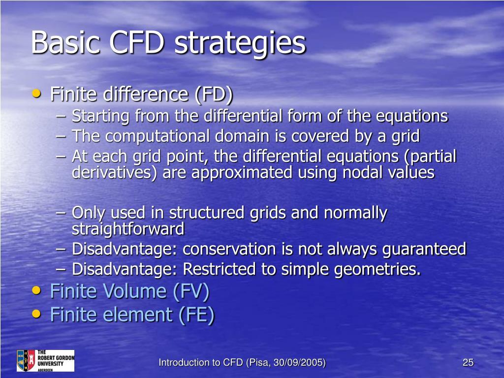 Basic CFD strategies
