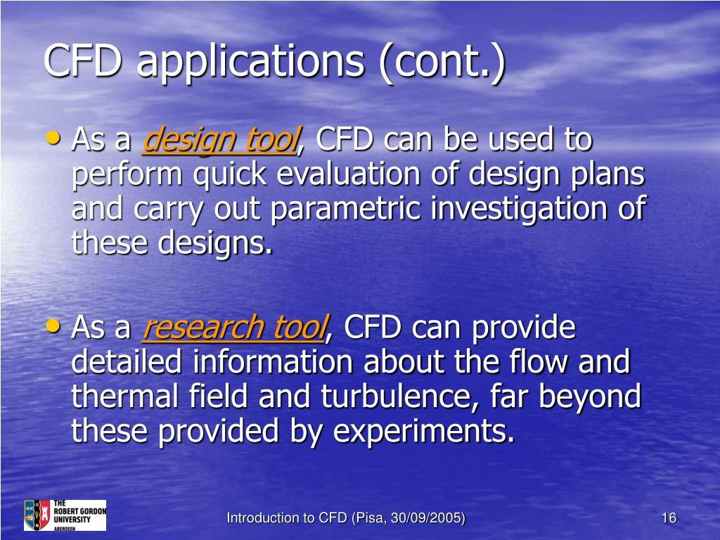 CFD applications (cont.)