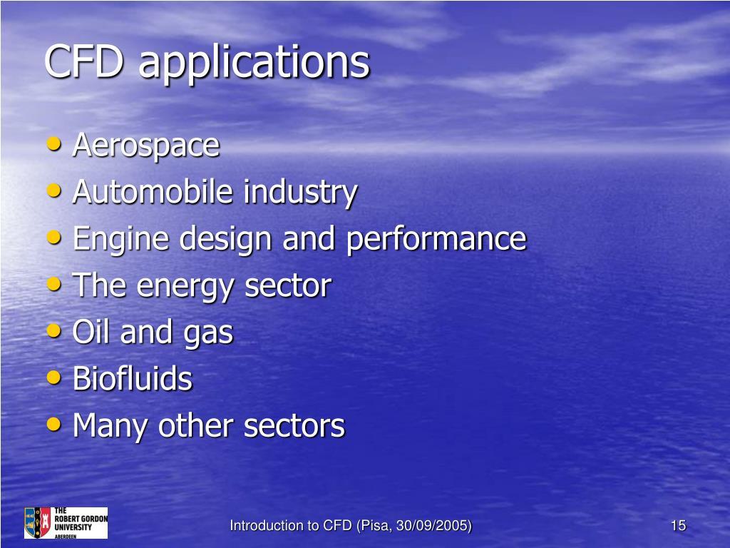 CFD applications