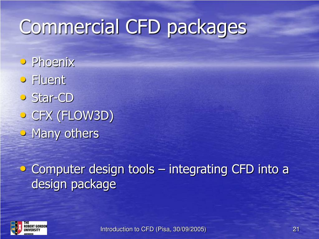 Commercial CFD packages