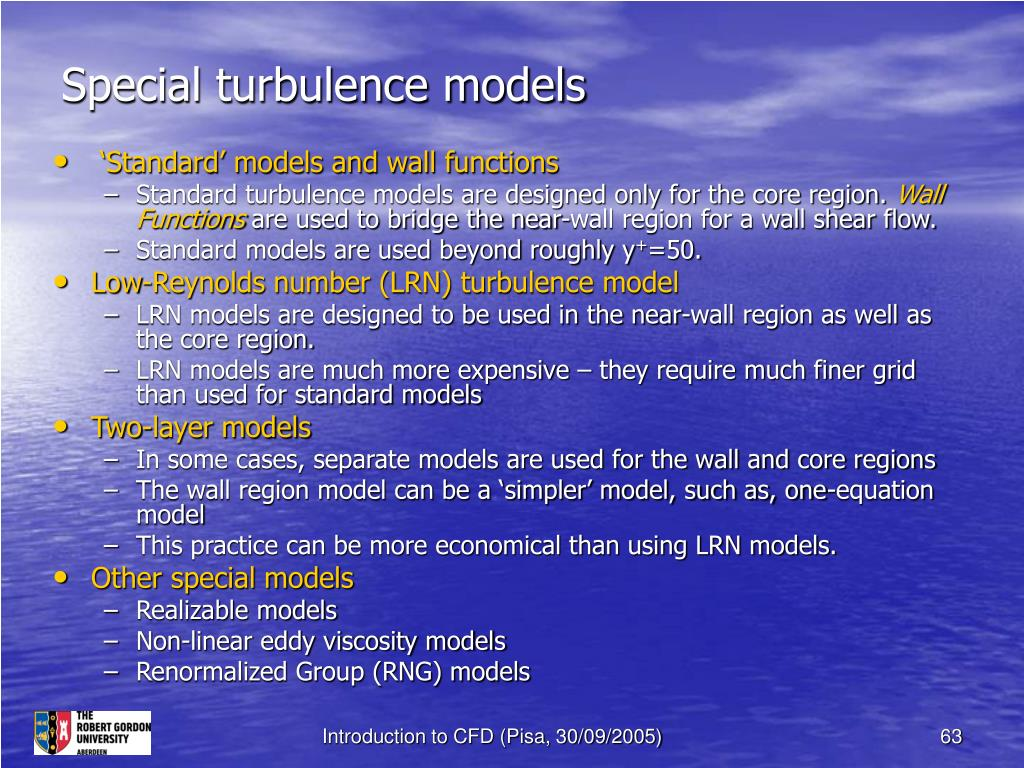 Special turbulence models