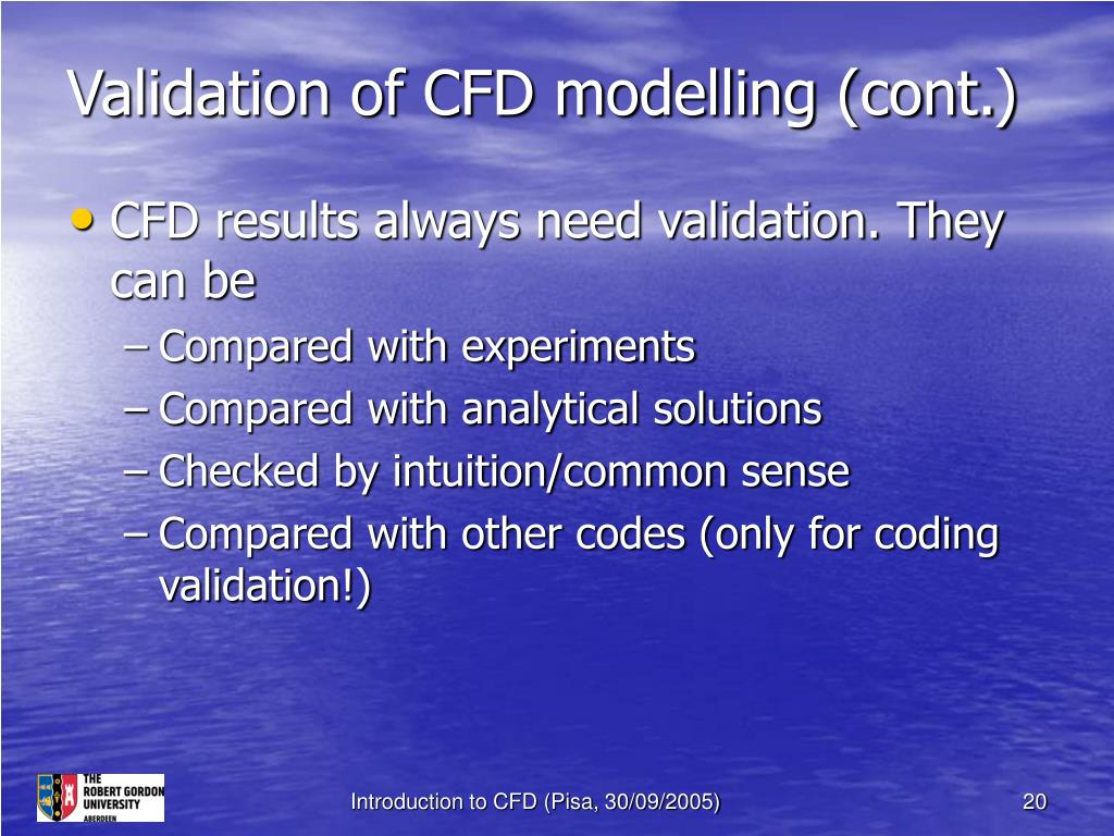Validation of CFD modelling (cont.)
