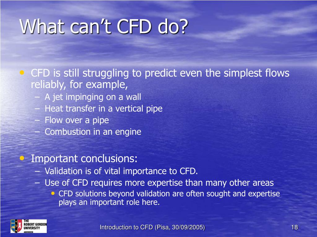 What can't CFD do?