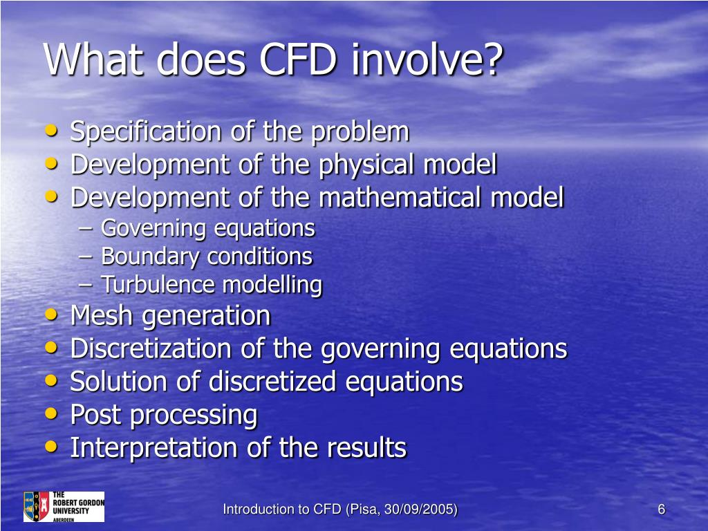 What does CFD involve?