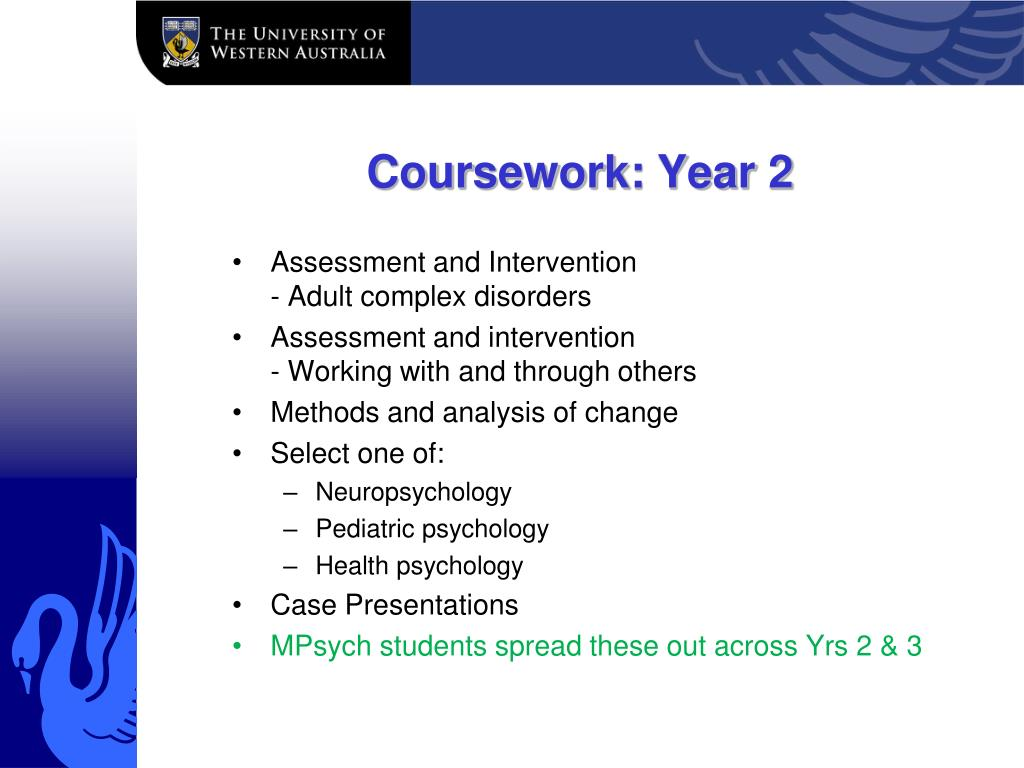 Coursework: Year