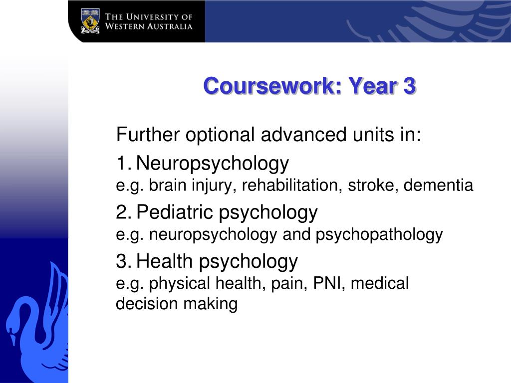 Coursework: Year 3
