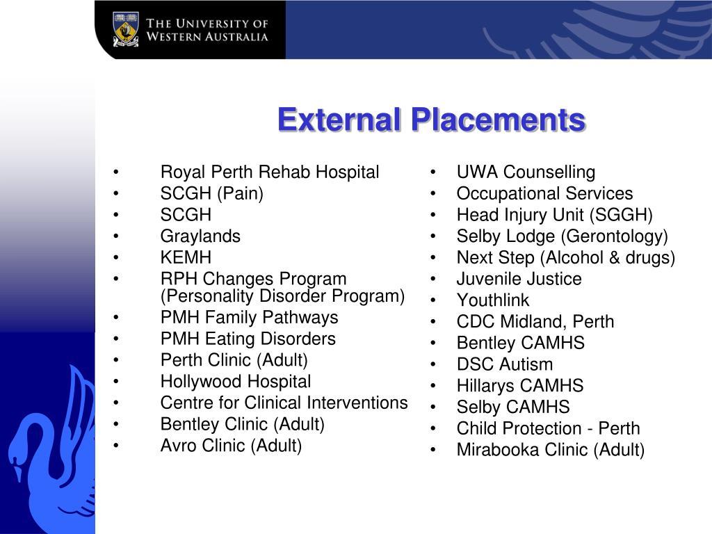 External Placements