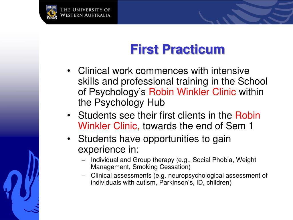 First Practicum