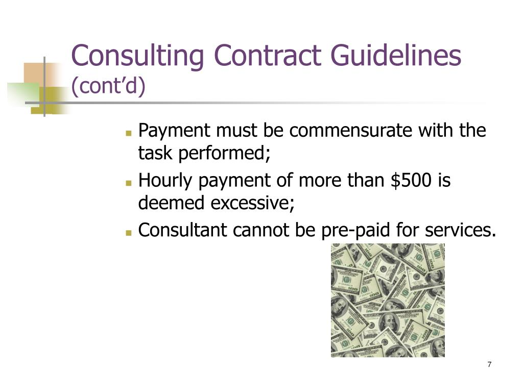 Consulting Contract Guidelines