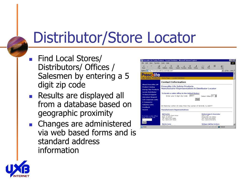Distributor/Store Locator