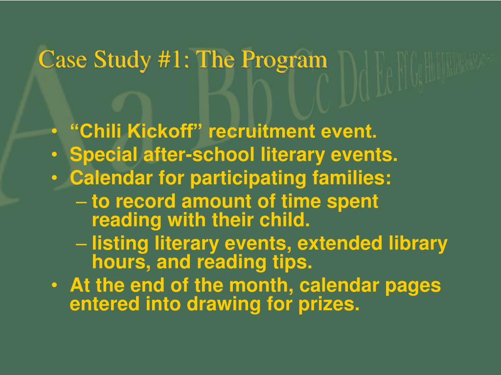 Case Study #1: The Program