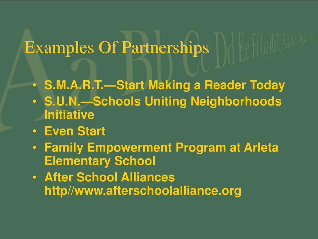 Examples Of Partnerships