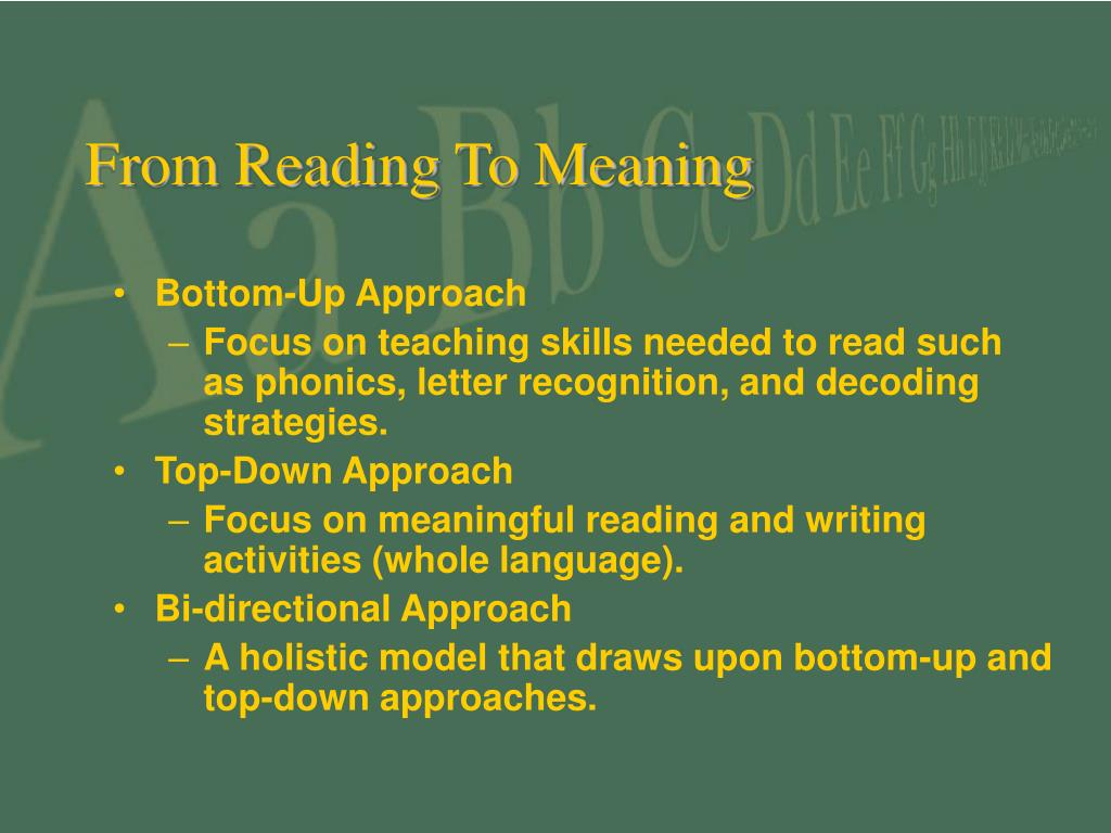 From Reading To Meaning