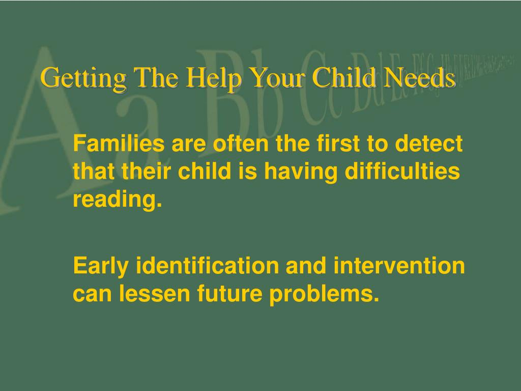 Getting The Help Your Child Needs