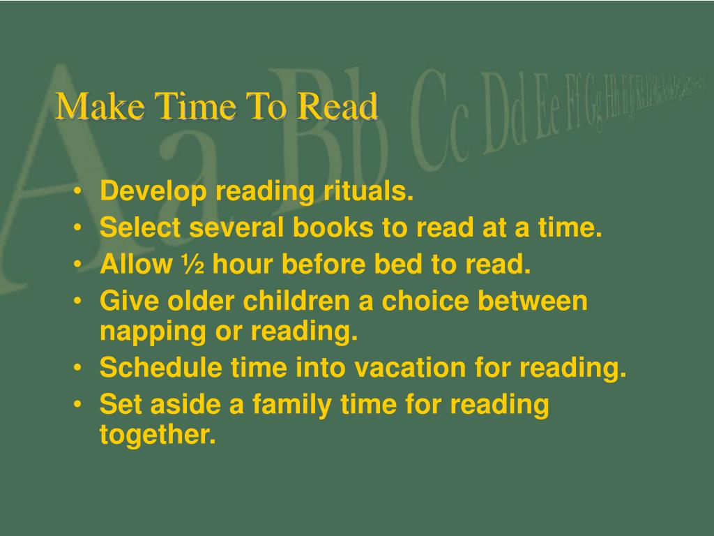 Make Time To Read