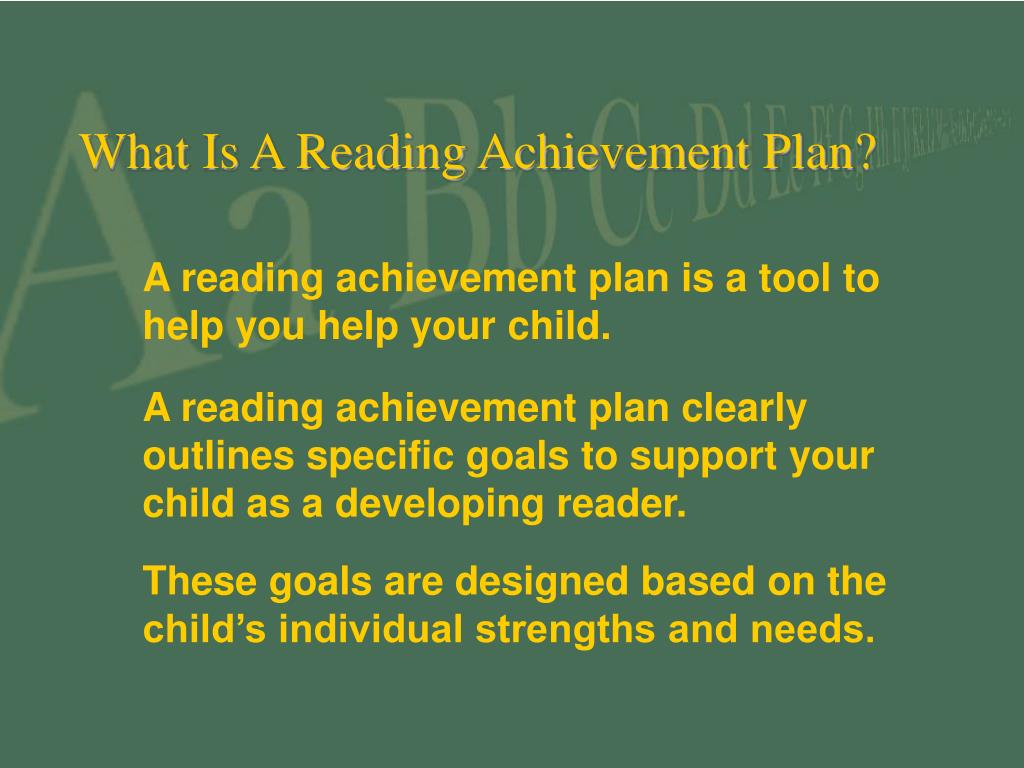 What Is A Reading Achievement Plan?
