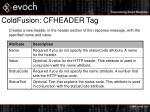 coldfusion cfheader tag