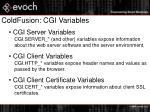 coldfusion cgi variables