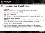 http advanced capabilities