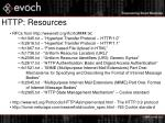 http resources