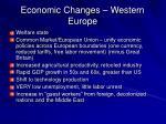 economic changes western europe