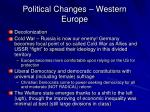 political changes western europe